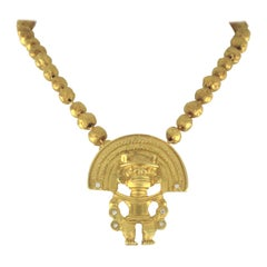 18 Karat Yellow Chain with Amulet