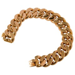 Gold Link Bracelet 18 Carat, circa 1960s from Paris