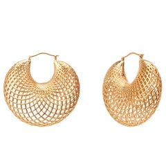 Yemyungji 18 Karat Yellow Gold Blooming Drop Earrings