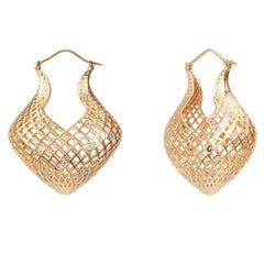 Yemyungji Diamond 18 Karat Yellow Gold Drop Earrings