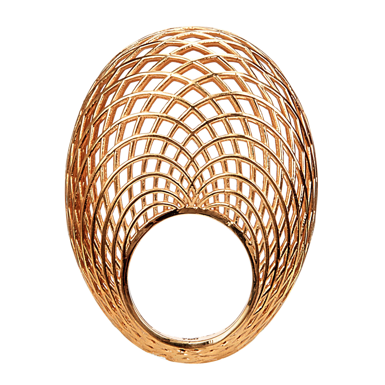 Yemyungji 18 Karat Yellow Gold Blooming Dome Ring