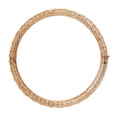 Yemyungji Diamond 5.12ct 18 Karat Yellow Gold Fantasia Choker Necklace