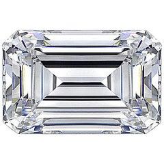 GIA Certified 1.02 Carat F Color SI1 Clarity Emerald-Cut Natural Diamond