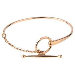 Hermes Filet D or Rose Gold Bracelet