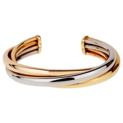 Cartier Trinity Gold Cuff Bangle Bracelet
