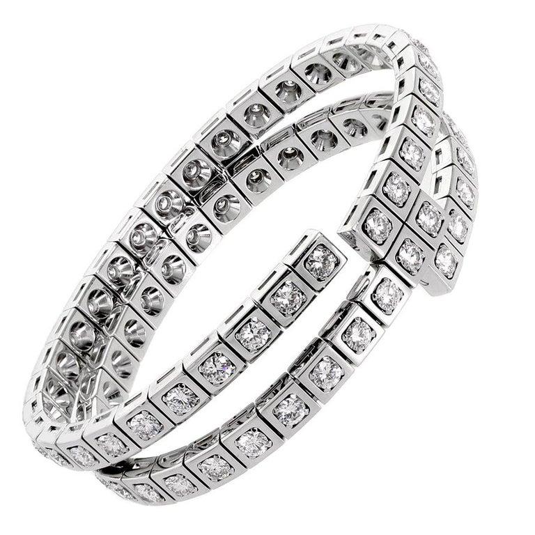 Cartier Diamond Gold Wrap Tennis Bracelet For Sale