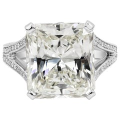 Roman Malakov, GIA Certified 10.65 Carat Radiant Cut Diamond Engagement Ring
