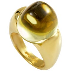 Ippolita 18 Karat Yellow Gold Lemon Quartz Ring
