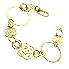 Chanel Camellia Flower Gold Bracelet