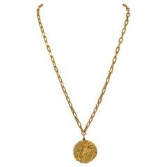 Tiffany & Co. Gold Zodiac Pendant Chain Necklace
