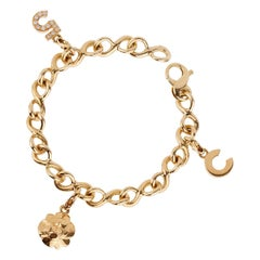 Chanel Diamond Gold Charm Bracelet