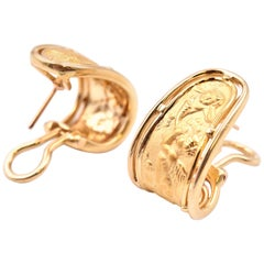 "Carrera y Carrera 18 Karat Yellow Gold ""Ronda"" Huggie Earrings"
