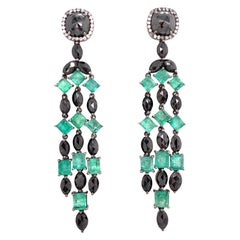 Ruchi New York Colombian Emerald and Black Diamond
