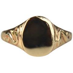 Ingram Cecil Snake Signet 14 Karat Gold Ring