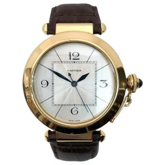 Cartier Large Pasha Automatic 18 Karat Yellow Gold Watch
