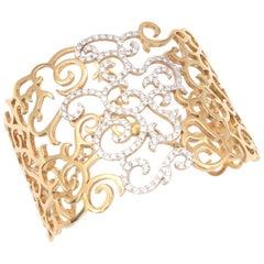 Rare Casato Daphne Rose Gold Diamond Cuff