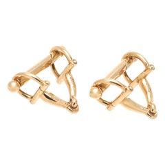 Gucci Gold Buckle Cufflinks