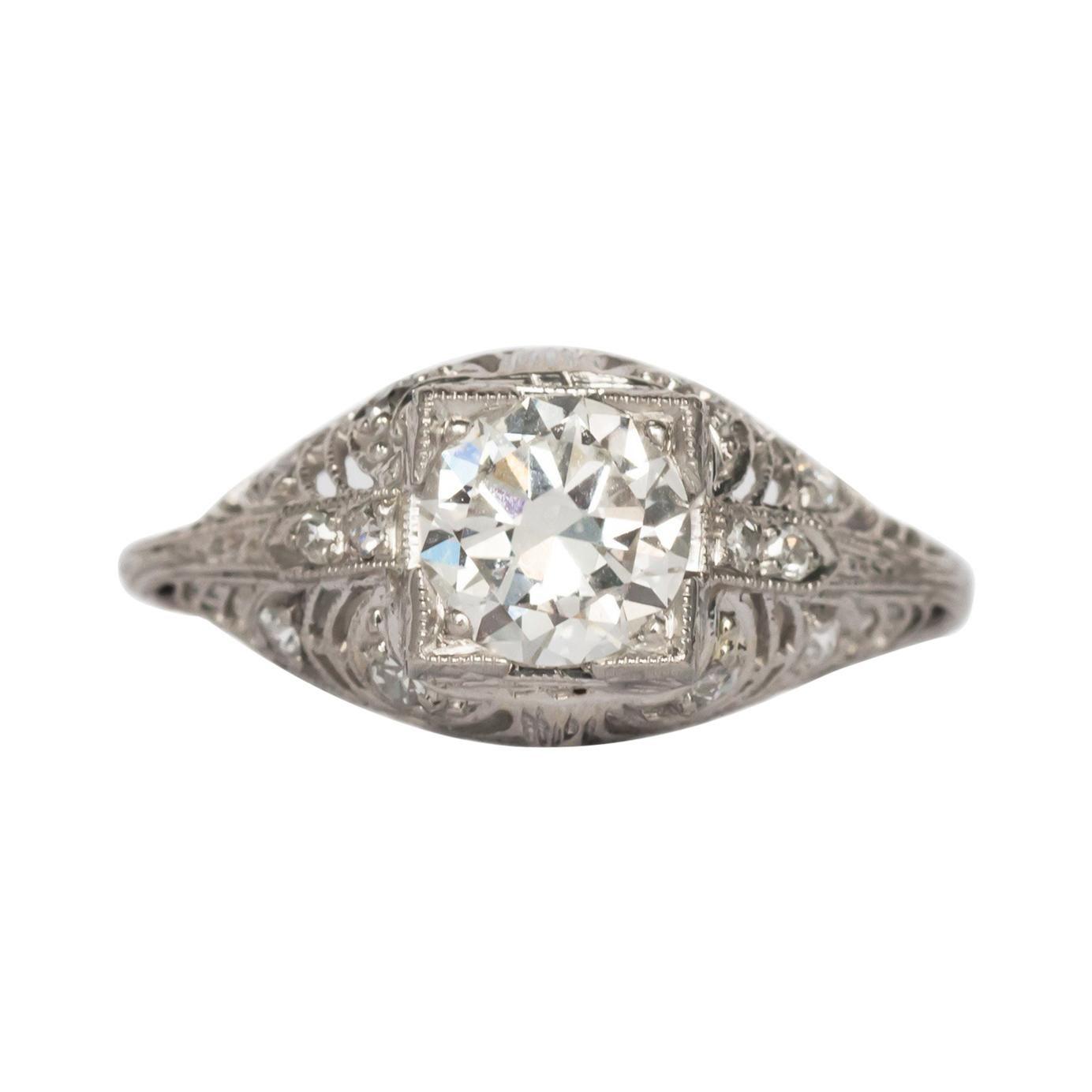 GIA Certified .85 Carat Diamond Engagement Ring