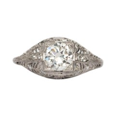 GIA Certified .85 Carat Diamond Engagement Ring