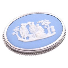 Sterling Silver Vintage Wedgewood Cameo Pin