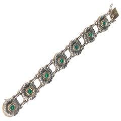George Jensen Denmark Antique #32 Gem Stone Bracelet