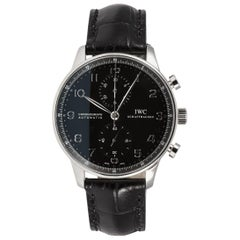 IWC Portuguese Chronograph Automatic Stainless Steel Watch IW371418 Black