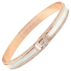 Alessa Border Diamond Bracelet 18 Karat Rose Gold Spectrum Collection