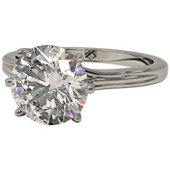 Kian Design Platinum 1.85 Carat GIA Round Brilliant Cut Diamond Engagement Ring