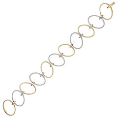 Diamond Two-Tone Gold Hoops Bracelet