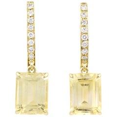 Julius Cohen Yellow Sapphire Earrings