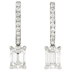 Julius Cohen GIA Certified Diamond Drop Earrings