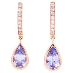 Julius Cohen Lavender Spinel Drop Earrings