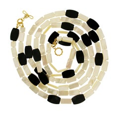 Valentin Magro Mother of Pearl and Onyx Necklace