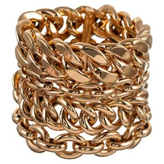 "Ralph Lauren Rose Gold ""Chunky Chain Collection"" Bracelet"