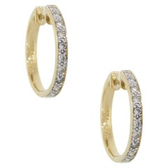 Round Brilliant Diamond Hoop Earrings