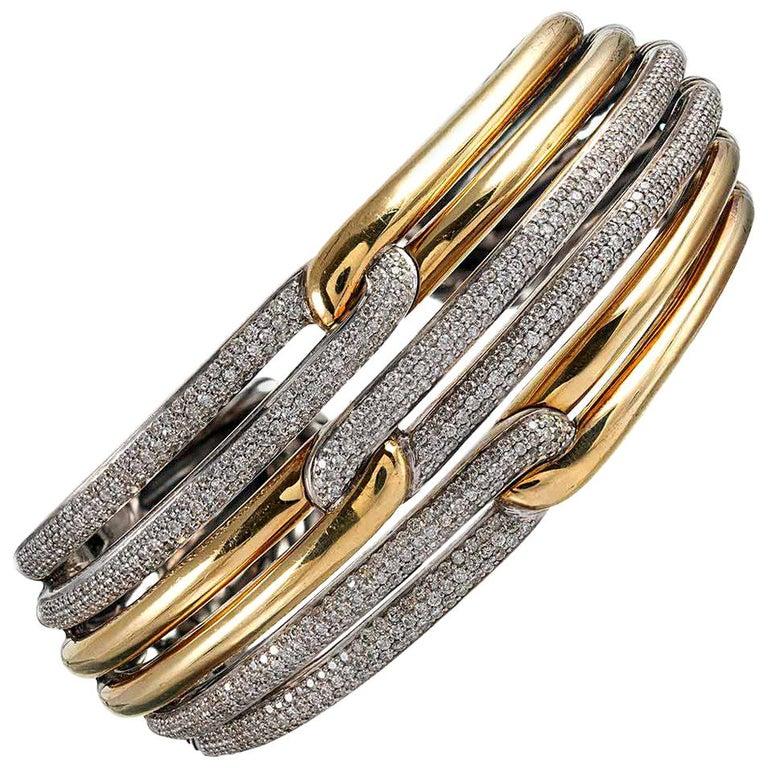 9c66e0d05 David Yurman Diamond Cuff Bracelet For Sale at 1stdibs