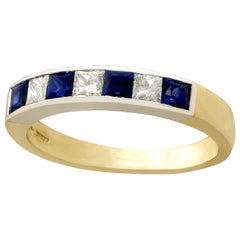 1950s Vintage Sapphire and Diamond Gold Cocktail Ring