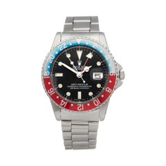 Rolex GMT-Master Pepsi Pointed Crown Guards Stainless Steel 1675 Wristwatch