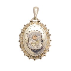 Antique Victorian Aesthetic Movement Silver Locket