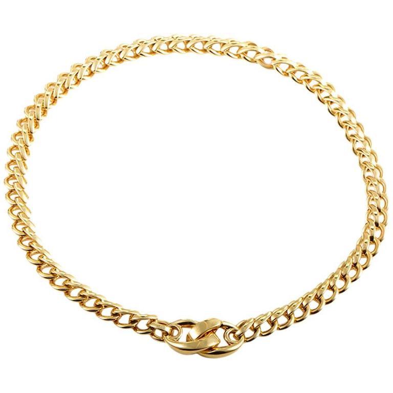 Pomellato Gold Chain Choker Necklace 1