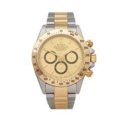 Rolex Daytona Zenith Stainless Steel And 18k Yellow Gold 16523 Wristwatch