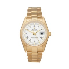Rolex Oyster Perpetual Date 18k Yellow Gold 15238 Wristwatch