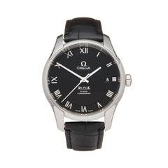 Omega De Ville Co Axial Stainless Steel 43113412101001 Wristwatch