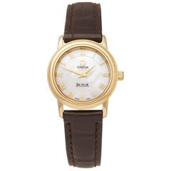 Omega De Ville Prestige 18k Yellow Gold 46707102 Wristwatch