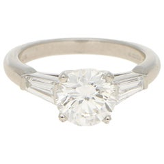 2.02 Carat Asprey Diamond Solitaire Engagement Ring Platinum