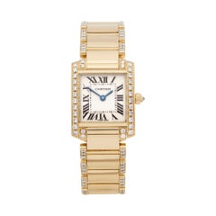 Cartier Tank Francaise Diamond 18K Yellow Gold 2385 or WE1001RG Wristwatch