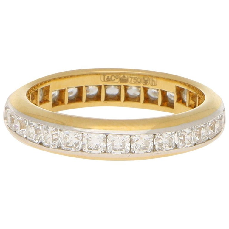 b77640abf 1.40 Carat Tiffany & Co. Lucida Full Eternity Ring, Yellow Gold and  Platinum For