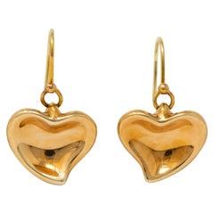 2db628e5f Tiffany and Co. Elsa Peretti 18k Yellow Gold and Diamond Medium Hoop ...