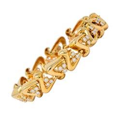 Dankner Vintage 3.60 Carat Diamond 14 Karat Gold Bracelet