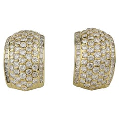 Kutchinsky Diamond Gold Hoop Earrings 7.16 Carat